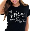 The Mrs. EST Modern Crystal Tee| Bridal T-shirts | RhinestoneSash.com
