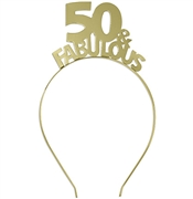 50 & Fabulous Gold Headband