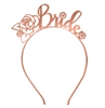 Floral Bride Rose Gold Headband