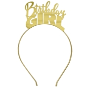 Birthday Girl Gold Headband