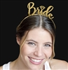 Bride with Diamond Gold Headband