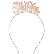 Birthday Princess Rose Gold Headband