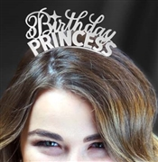Birthday Princess Silver Headband