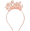 Floral Bride's Squad Rose Gold Headband