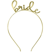 Lovely Bride Gold Headband