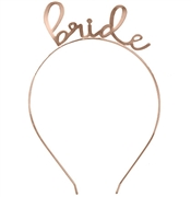 Lovely Bride Rose Gold Headband