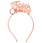 Team Bride Rose Gold Headband