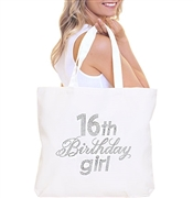 """16th Birthday Girl"" Rhinestone Tote 