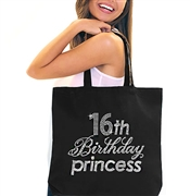 """16th Birthday Princess"" Rhinestone Tote 