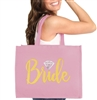 Bride w/Diamond Large Canvas Tote
