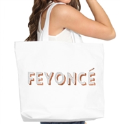 Feyoncé Rhinestone & Rose Gold Large Canvas Tote