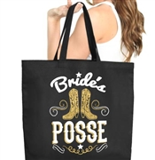 Bride's Posse Large Canvas Tote