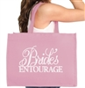 Flirty Bride's Entourage Large Canvas Tote | RhinestoneSash.com