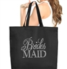 Flirty Bridesmaid Large Canvas Tote | Bride Tote | RhinestoneSash.com