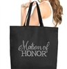 Flirty Matron of Honor Large Canvas Tote | RhinestoneSash.com