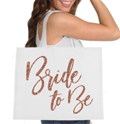 Glam Bride to Be Large Canvas Tote