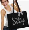 It's My Birthday Rhinestone Tote | Birthday Party Totes | RhinestoneSash.com