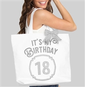 It's My Birthday '18' Frame Rhinestone Tote | Birthday Party Totes | RhinestoneSash.com