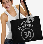 It's My Birthday '30' Frame Rhinestone Tote | Birthday Party Totes | RhinestoneSash.com