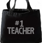 """#1 Teacher"" Large Tote"