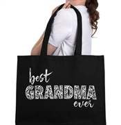 Best Grandma Ever Large Canvas Tote