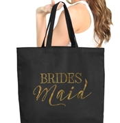 Bridesmaid Gold Large Canvas Tote