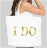 I Do Foil Large Canvas Tote