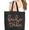 Bride Tribe Rose Gold Large Canvas Tote | Bridal Party Totes | RhinestoneSash.com