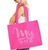 Foxy Mrs & Wedding Date Custom Large Tote