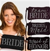 Black Bridal Party Quilted Zipper Pouch