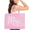 The Mrs. EST Chic Rhinestone Large Canvas Tote