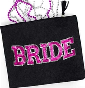 Sporty Bride Black Zipper Pouch