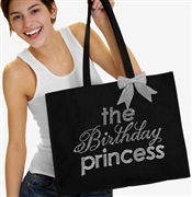 The Birthday Princess Rhinestone Tote | Birthday Party Totes | RhinestoneSash.com