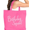 Birthday Squad Rhinestone Tote | Birthday Party Totes | RhinestoneSash.com