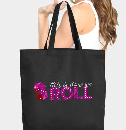 1639f8cc42b3 This Is How We Roll Large Tote - Bridal Party Gift - Vegas Bachelorette