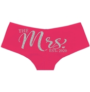 The Mrs. EST Silver Glitter Cheeky Panty