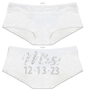Bride & Wedding Date Custom Cheeky Panty | Personalized Wedding Gifts for the Bride