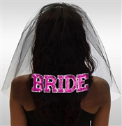 Sporty Bride Veil - Black