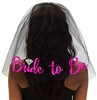 Pink Bride to Be w/Diamond Veil - Black